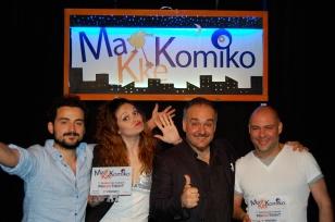 I vincitori: da sinistra Fabrizio Mazzeo, Giorgia Ciotola, io, Claudio Sciara